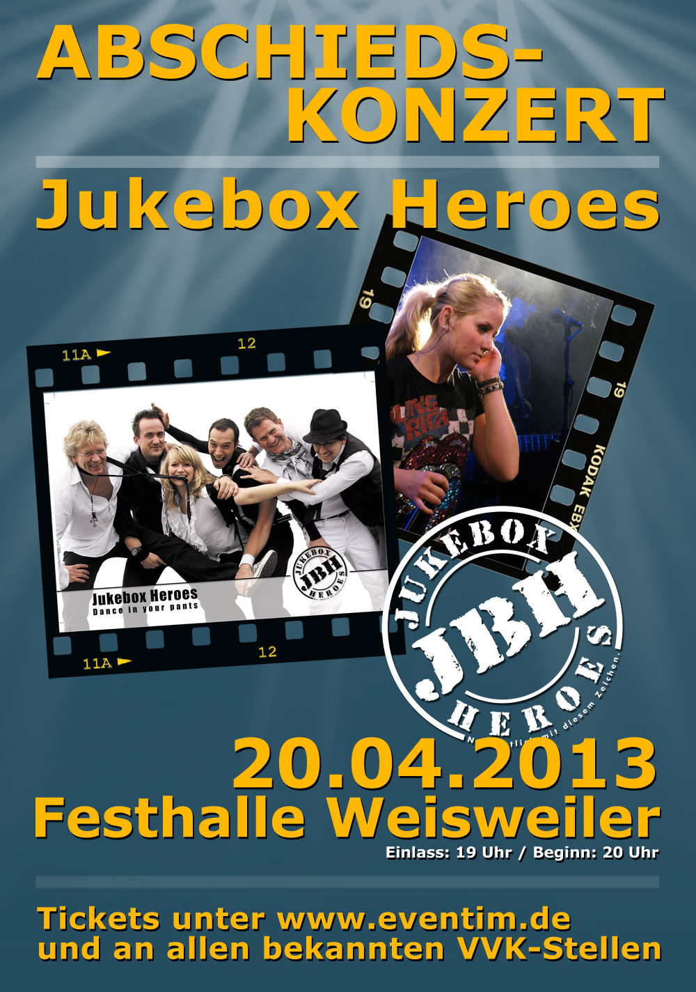 Jukebox Heroes – dance in your pants » Vorverkauf Abschiedskonzert ...